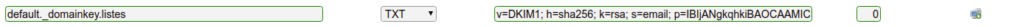 Ajout de l'enregistrement DNS